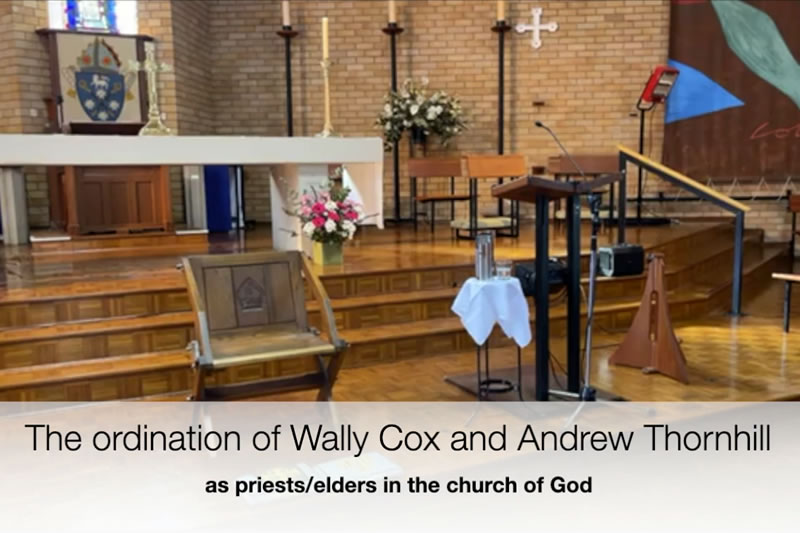 Ordination of Wally Cox and Andrew Thornhill
